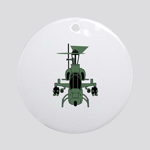 Cobra Helicopter Round Ornament
