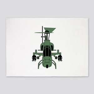 Cobra Helicopter 5'x7'Area Rug