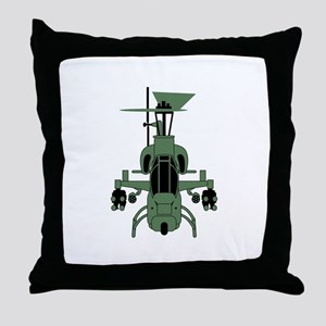 Cobra Helicopter Throw Pillow