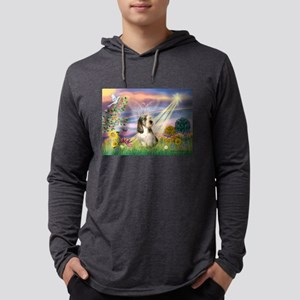 Cloud Angel & PBGV Mens Hooded Shirt