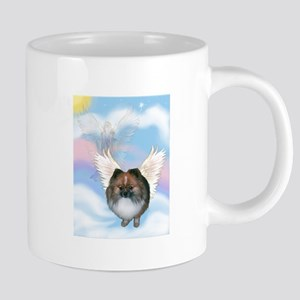 Brindle Pom Angel 20 oz Ceramic Mega Mug