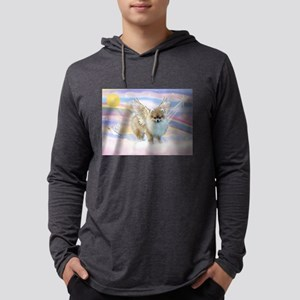Pomeranian / Angl (s&w) Mens Hooded Shirt