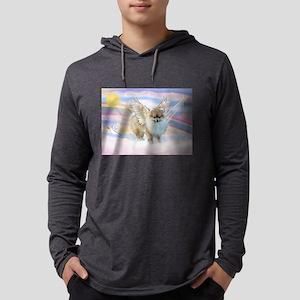 Pomeranian / Angl (s&w) Mens Hooded Shirt