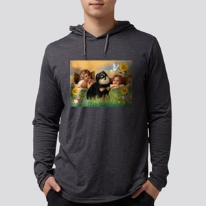 Cherubs /Pomeranian (b&t) Mens Hooded Shirt