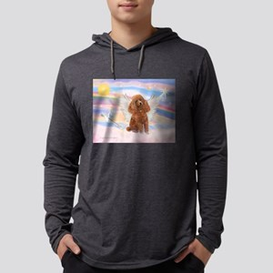 Angel/Poodle (Aprict Toy/Min) Mens Hooded Shirt