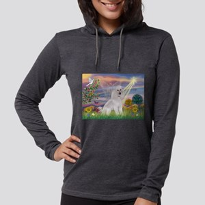 Cloud Angel /Poodle std (w) Womens Hooded Shirt