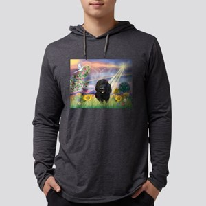 Cloud Angel / Poodle (#17)(bl Mens Hooded Shirt