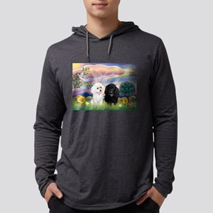 Cloud Angel / Poodle pair Mens Hooded Shirt