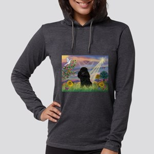 Cloud Angel / Poodle (blk#2) Womens Hooded Shirt