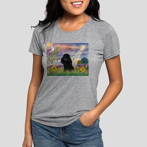 Cloud Angel / Poodle (blk#2) Womens Tri-blend T-Sh