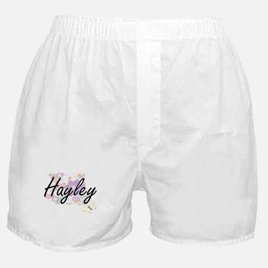 Hayley Artistic Name Design with Flow Boxer Shorts