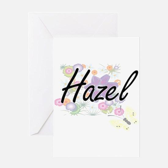 Hazel Artistic Name Design with Flo Greeting Cards