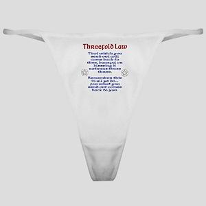 Threefold Law Classic Thong