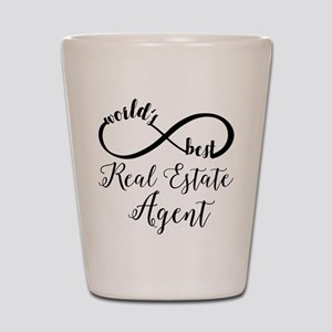 World's Best Real Estate Agent Shot Glass