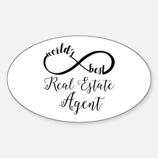 World's Best Real Estate Agent Sticker (Oval)