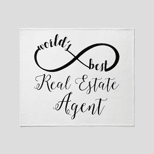 World's Best Real Estate Agent Throw Blanket