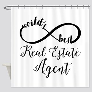 World's Best Real Estate Agent Shower Curtain