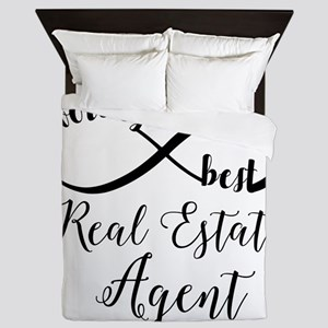 World's Best Real Estate Agent Queen Duvet