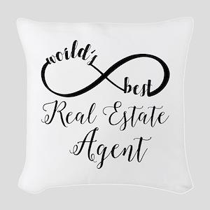World's Best Real Estate Agent Woven Throw Pillow