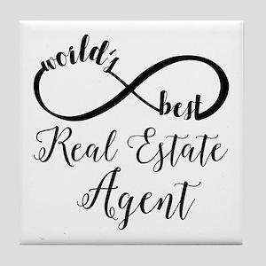 World's Best Real Estate Agent Tile Coaster