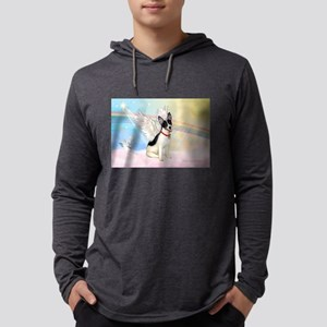 Clouds / Rat Terrier Mens Hooded Shirt