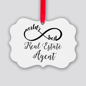 World's Best Real Estate Agent Picture Ornament