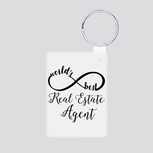 World's Best Real Estate A Aluminum Photo Keychain