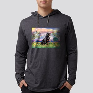 Cloud Angel / Rottweiler Mens Hooded Shirt