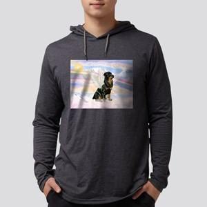 Clouds / Rottie Mens Hooded Shirt