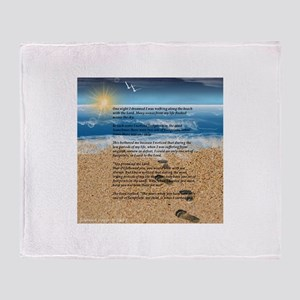 Footprints in the Sand Throw Blanket