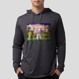 Autumn Angel Schnauzer Mens Hooded Shirt