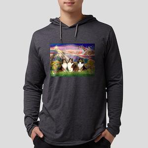 Autumn Angel / Shelties (5) Mens Hooded Shirt