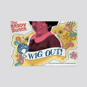 The Brady Bunch Jan: Wig Out Rectangle Magnet