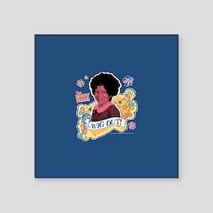 "The Brady Bunch Jan: Wig Ou Square Sticker 3"" x 3"""
