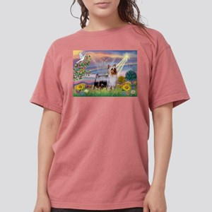 Cloud Angel /Silky Terrier Womens Comfort Colors S