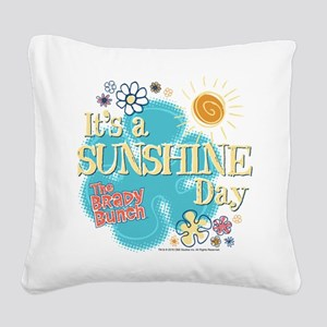 The Brady Bunch: Sunshine Day Square Canvas Pillow