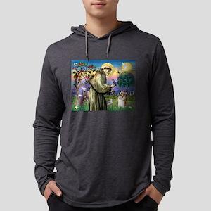 St Francis / Welsh Corgi (p) Mens Hooded Shirt