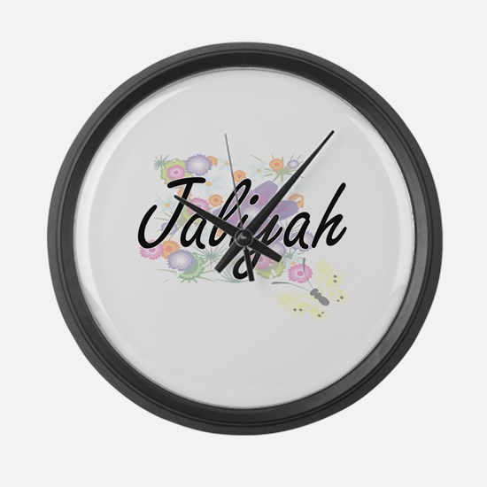 Jaliyah Artistic Name Design with Large Wall Clock
