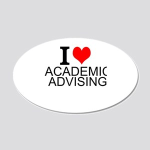 I Love Academic Advising Wall Decal