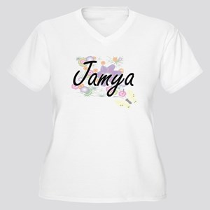 Jamya Artistic Name Design with Plus Size T-Shirt