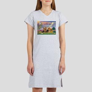 Cloud Angel / 2 Yorkies Women's Nightshirt