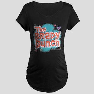 The Brady Bunch Logo Maternity Dark T-Shirt