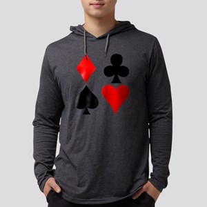 Playing card suits. Mens Hooded Shirt