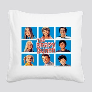 The Brady Bunch Grid Square Canvas Pillow