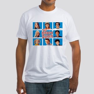 The Brady Bunch Grid Fitted T-Shirt