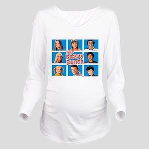The Brady Bunch Grid Long Sleeve Maternity T-Shirt