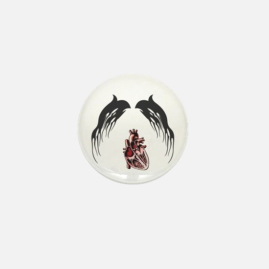 Tribal Wings with Heart Mini Button (100 pack)