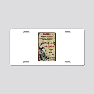 Shady Lady Saloon Aluminum License Plate
