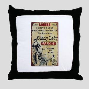 Shady Lady Saloon Throw Pillow