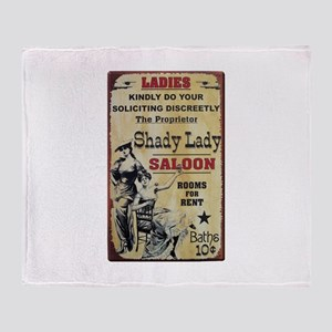 Shady Lady Saloon Throw Blanket